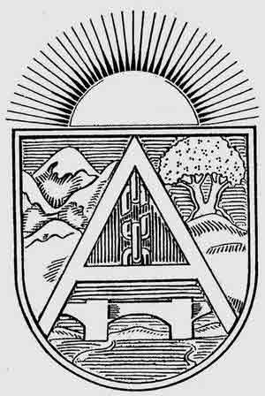 Escudo del Consejo Regional de Defensa de Aragón Entidad administrativa creada en septiembre de 1936 por el Comité Regional de la CNT de Aragón, vinculado federativamente al Consejo Nacional de Defensa.