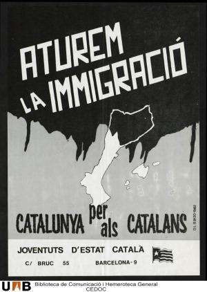 Propaganda catalanista de carácter xenófoba