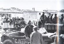 Durruti y milicianos