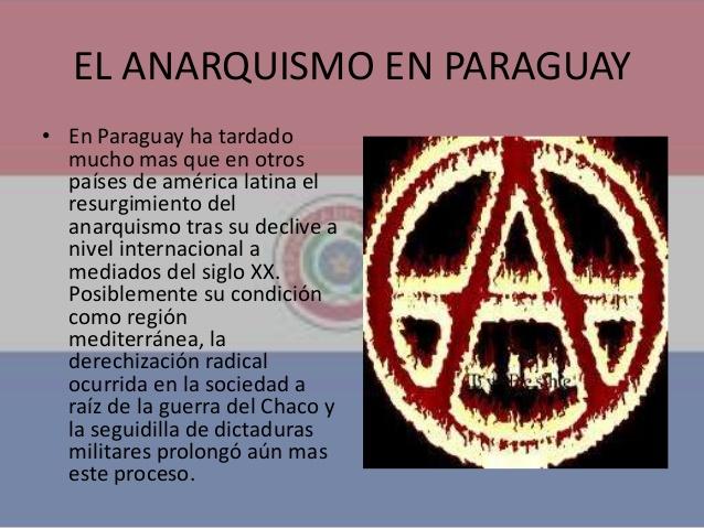 Historia del anarquismo en Paraguay